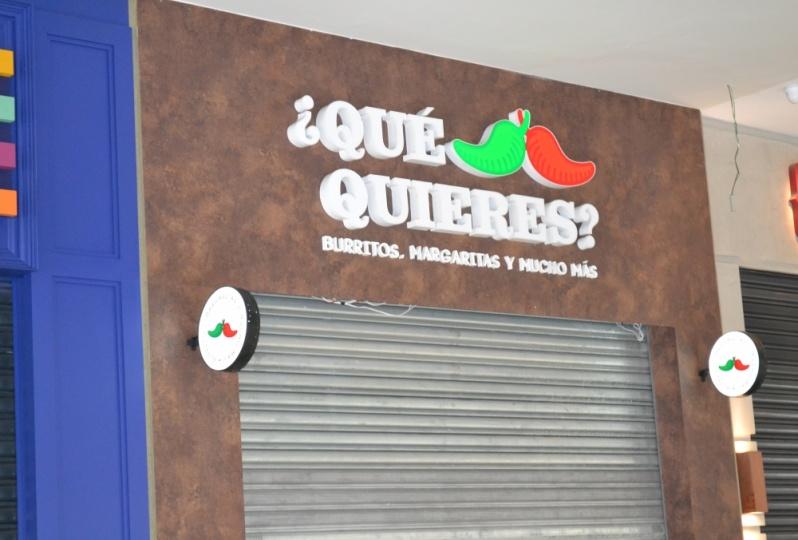 Letra em Chapa para Fachadas de Lojas Barata Recreio dos Bandeirantes - Letras em Relevo