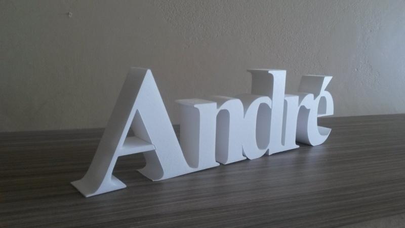 Letras em 3D Leblon - Letras em Bloco