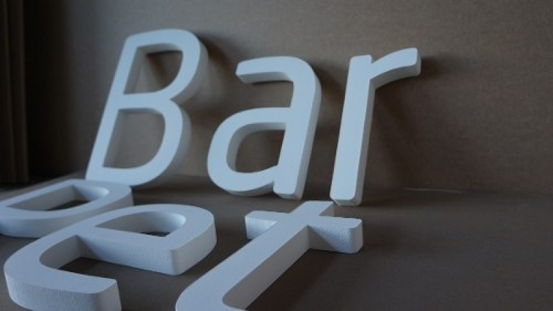 Letras em Bloco XPS Barata Ipanema - Letras em Alto Relevo para Fachadas