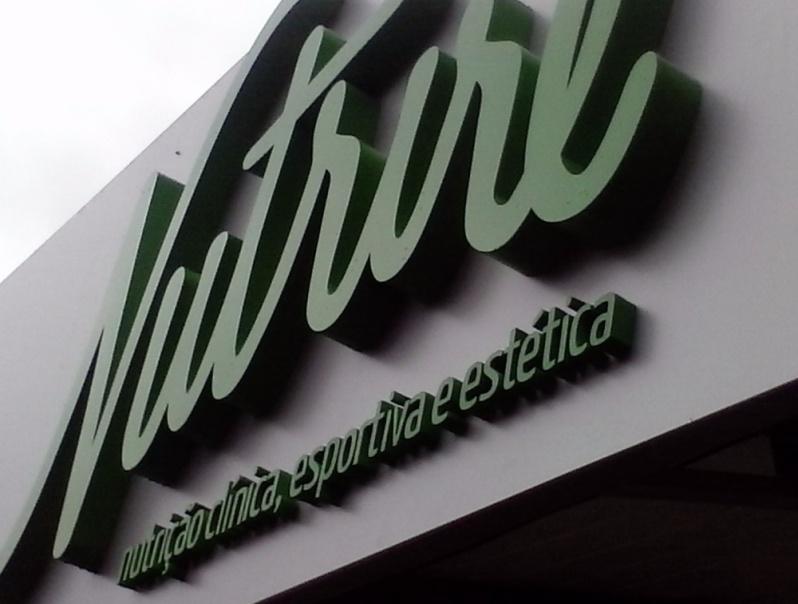 Letras em Chapa para Fachadas de Empresa Barata Laranjeiras - Letras em Bloco