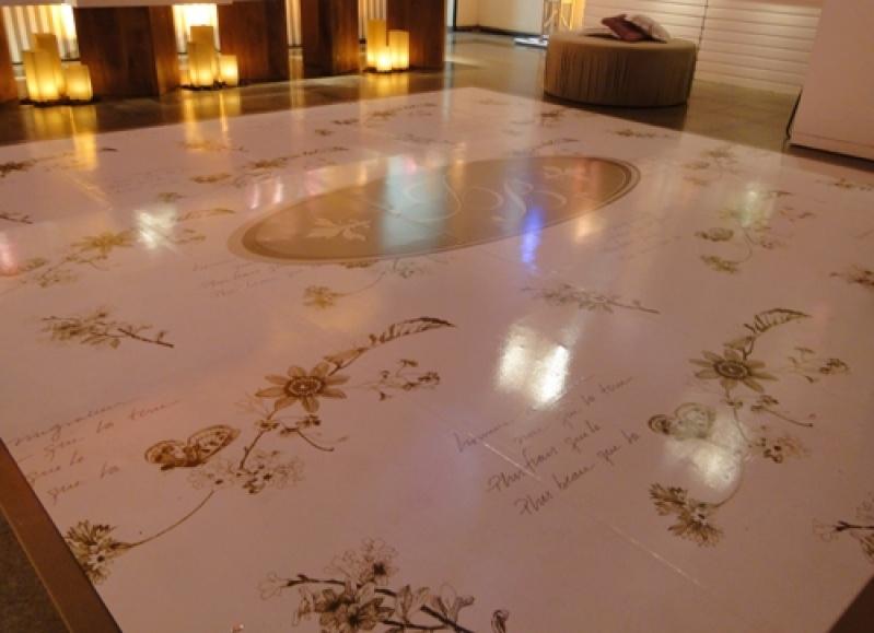 Pistas de Dança Personalizada Gávea - Tapete Personalizado para Festa de Casamento
