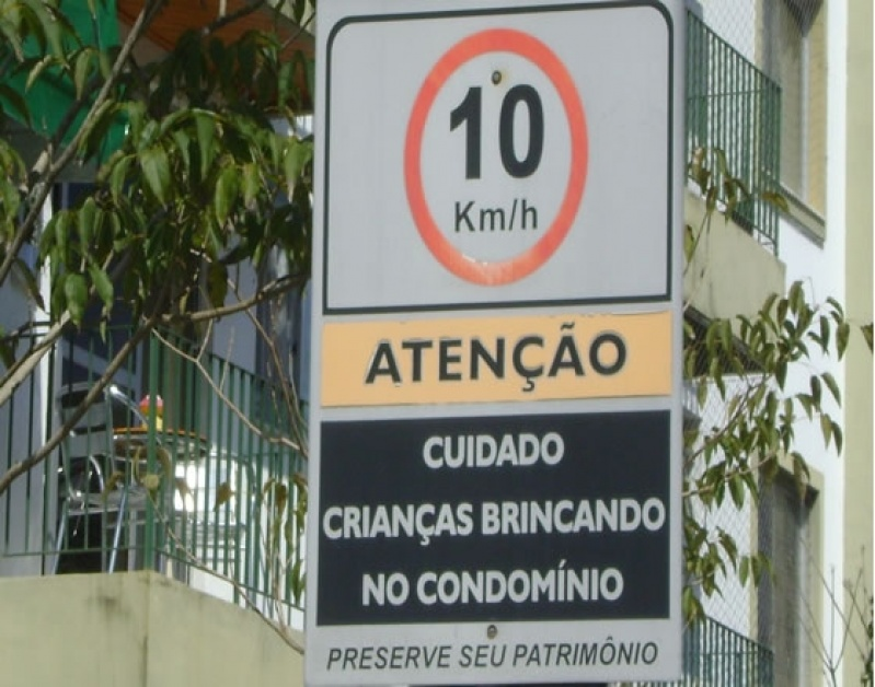 Placa de Sinalização de Condomínios Barra da Tijuca - Placa com Nome do Condomínio