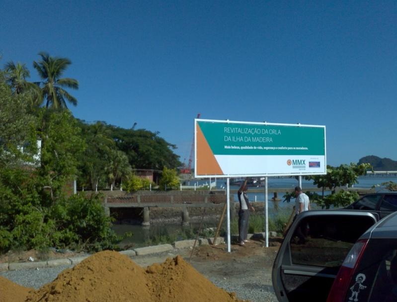 Placa de Sinalização para Empresas Vargem Grande - Placas de Sinalização no Rio de Janeiro