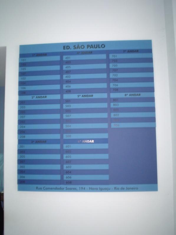 Placa de Sinalização para Prédios Gávea - Placas de Sinalização em Rj
