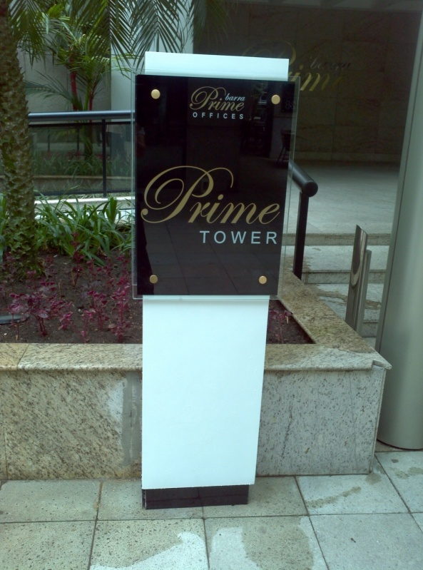 Placas para Condomínios Barra da Tijuca - Placa para Sala Comercial Personalizada