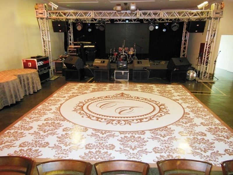 Tapete Adesivo para Festa Tijuca - Pista de Dança Personalizada