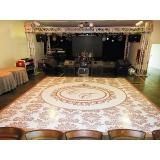 adesivo de chão para festa de casamento Leblon