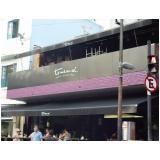 fachada comercial em acm quanto custa Tijuca