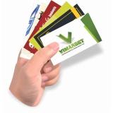 gráfica para cartão de visita