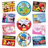kit de adesivos personalizados para festa Copacabana