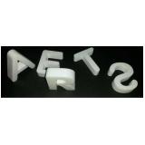 letras em bloco XPS