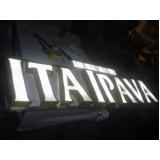 letras caixa em chapas galvanizadas Laranjeiras