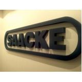 letras em chapa para fachadas de empresa preço Laranjeiras