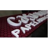 letras em relevo preço Jacarepaguá