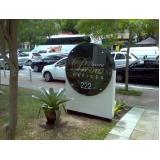 orçamento de placa com nome do condomínio personalizado Laranjeiras