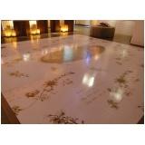 adesivo de chão para festa de casamento