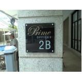 placa com nome do condomínio personalizado preço Copacabana