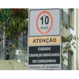 placa de sinalização de condomínios Barra da Tijuca