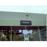 placa de sinalização de loja preço Leblon