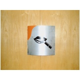 placas de sinalização em alumínio