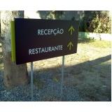 placa para prédio Barra da Tijuca