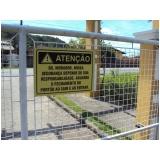 placas de sinalização de condomínio preço Tijuca