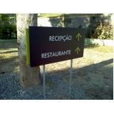 placas de sinalização em rj quanto custa Jardim Botânico
