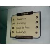 placas de sinalização para prédios preço Leblon