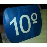 placas para portaria de empresas preço Laranjeiras