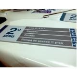 placas para salas comerciais personalizadas Recreio dos Bandeirantes