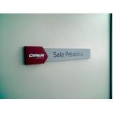 sinalização interna empresarial personalizada Copacabana